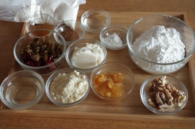 米粉で作るシュトーレンの材料