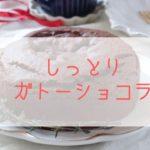 米粉のガトーショコラがお皿にのっている。